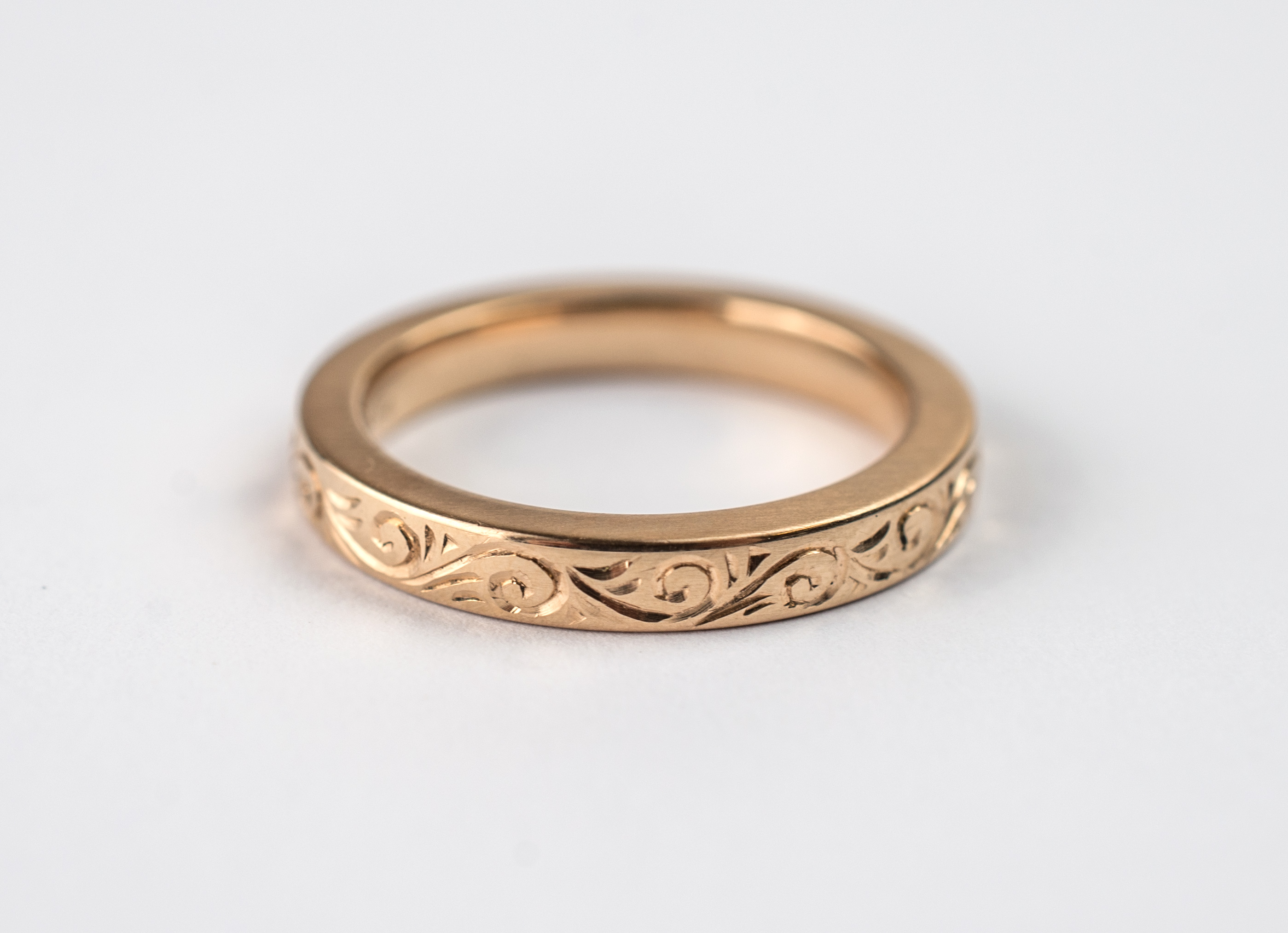 Hand engraved wedding ring ra designer jewellery for Engravings on wedding rings