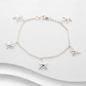 Silver starfish bracelet B1906