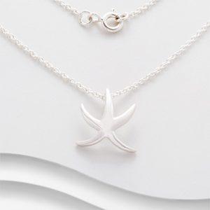 Silver starfish pendant P1555