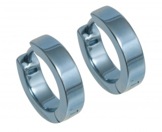 titanium small flat hoop earrings