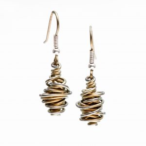 Ti2 Ti2 titanium chaos drop earrings