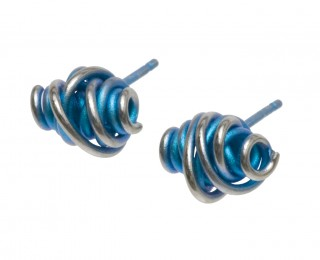 Ti2 titanium chaos stud earrings