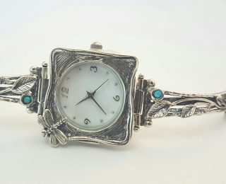 dragonfly silver watch