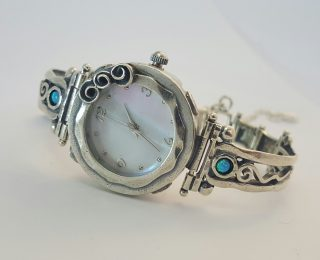 sterling silver rose watch