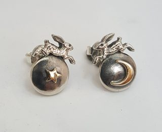 Nick Hubbard hare earrings